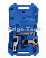 Tool Kit with flaring tool tube cutter deburring tool